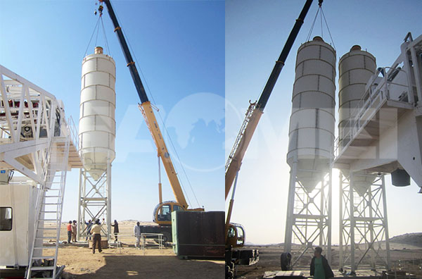 YHZS75 mobile concrete batching plant to Saudi Arabia