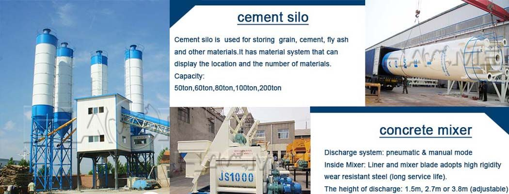 Concrete mixing plant production line process