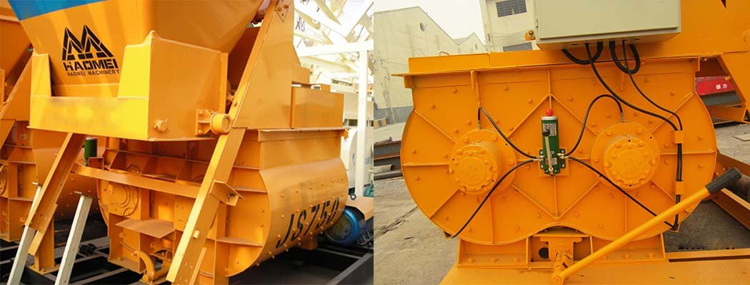 Nursing and Repair of JS1500 Forced concrete mixer