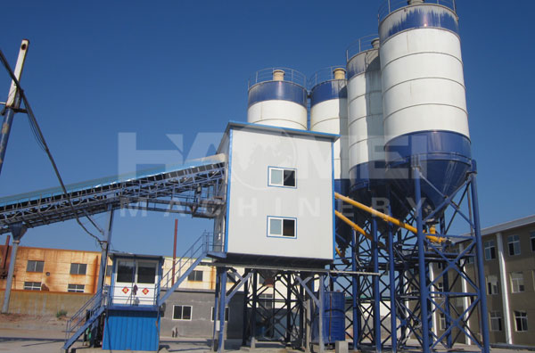 HZS120 Belt conveyor Type Concrete Batching Plant